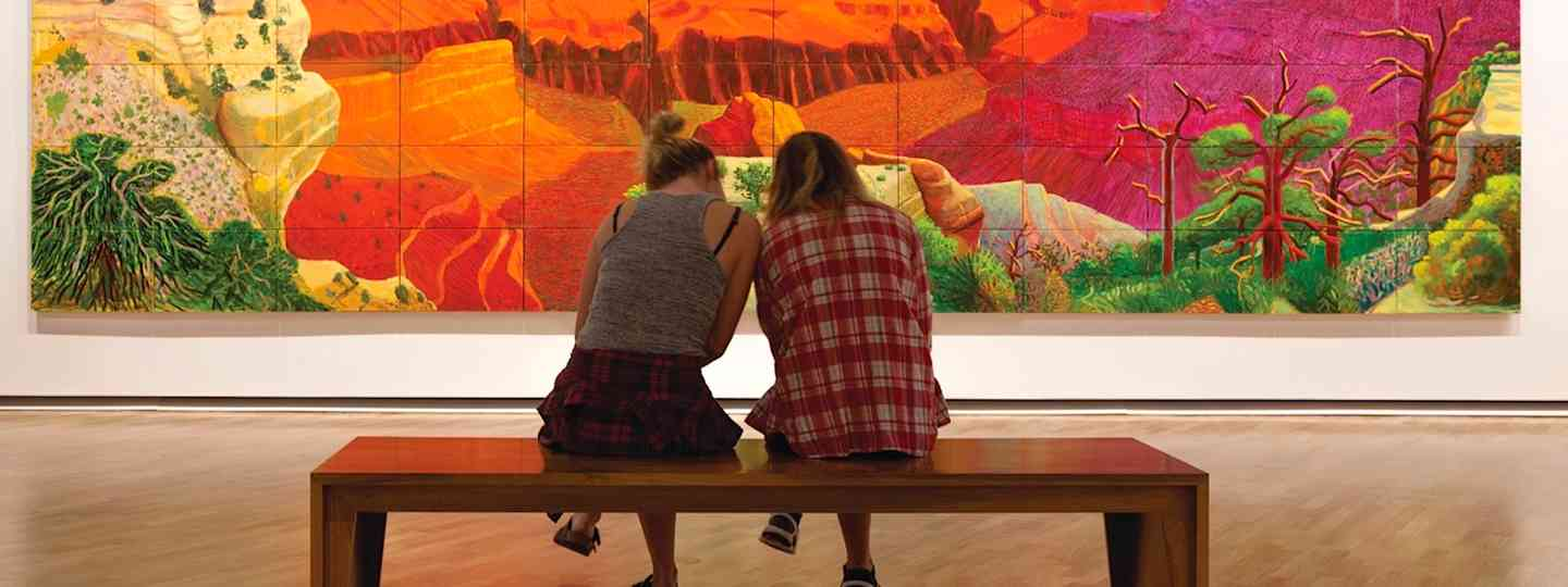 Colourful art at the National Gallery of Australia (VisitCanberra)