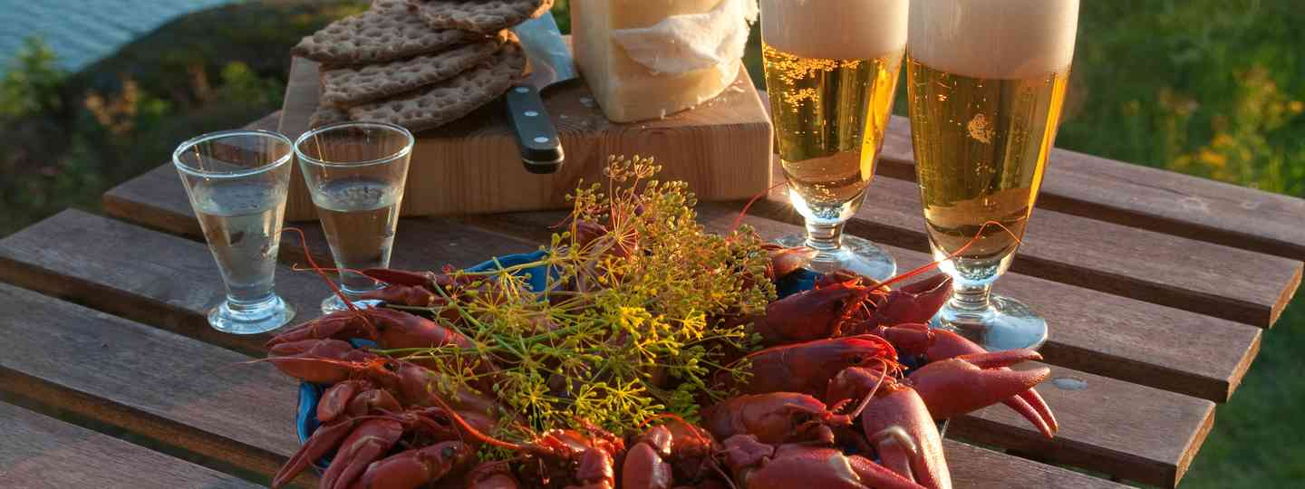 Table set for a Swedish crayfish party (Shutterstock: see main credit below)