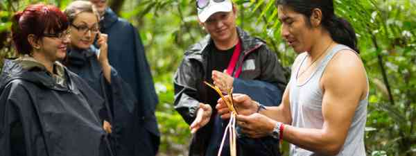 Guide and group in Cuyabeno Wildlife Reserve, Ecuador (Shutterstock: see credit below)