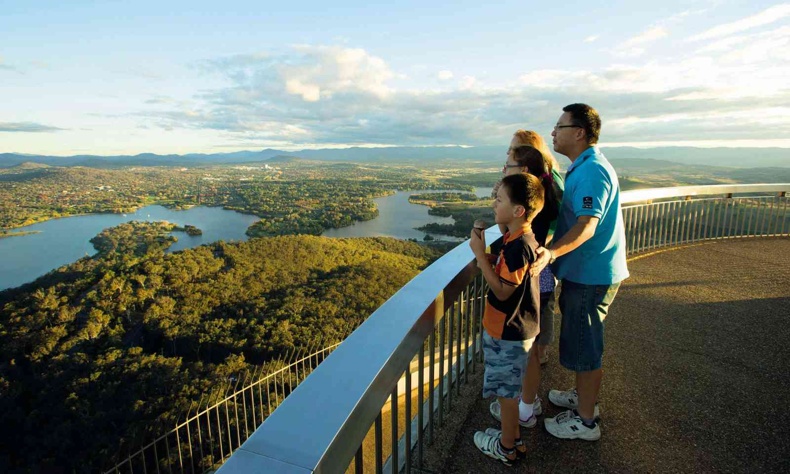 The view from Telstra Tower at Black Mountain (Visit Canberra)