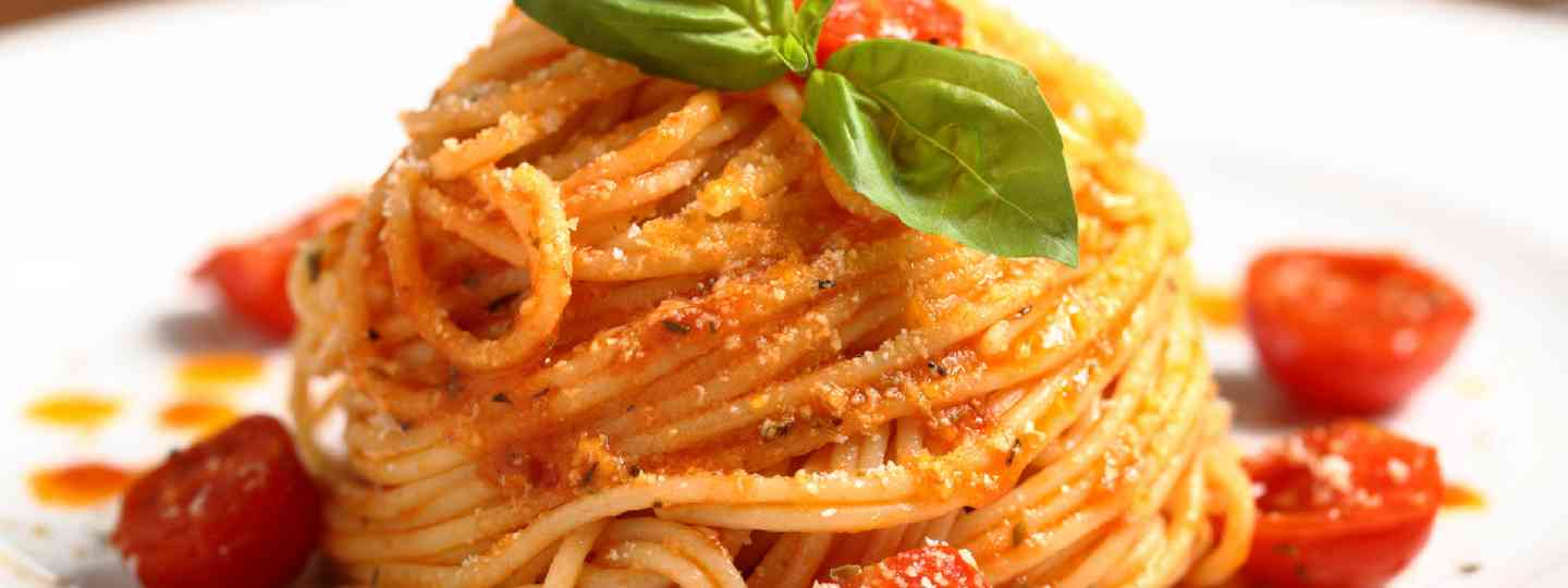 Italian pasta with tomato sauce (Shutterstock: see credit below)