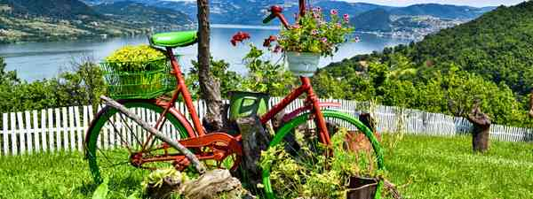 Flower bike overlooking the Danube from Serbia (Shutterstock: see main credit below)