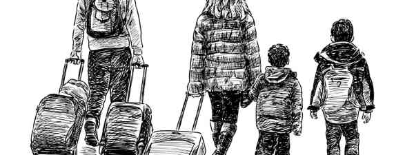 Sketch of family travelling (Shutterstock: see main image credit below)