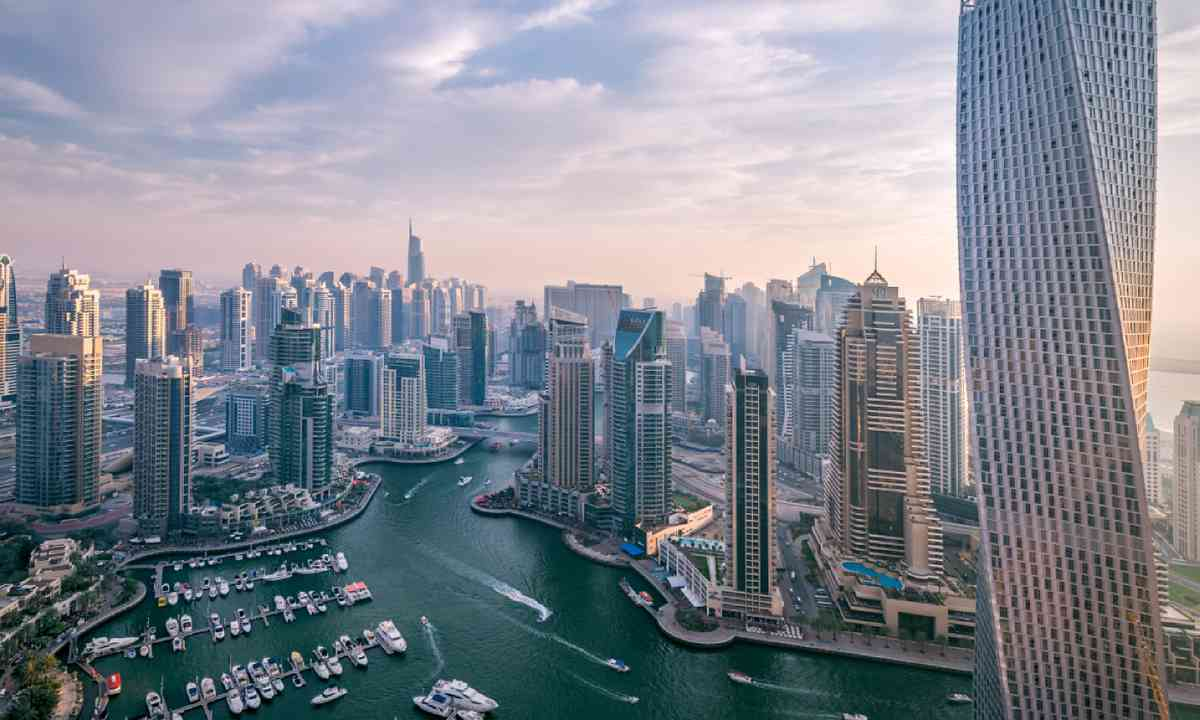 Dubai Marina at dusk (Shutterstock)