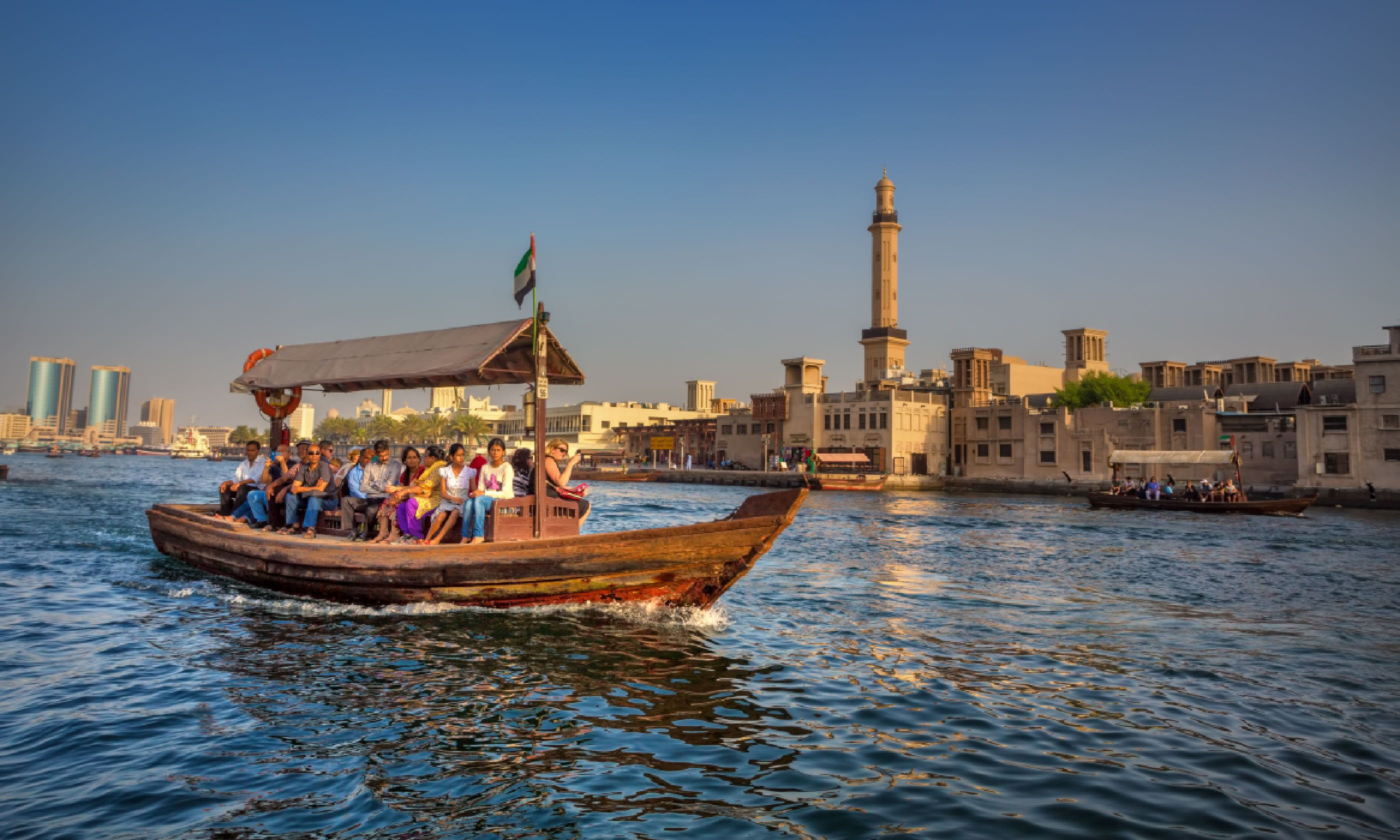 Crossing Dubai Creek in an abra (Shutterstock)