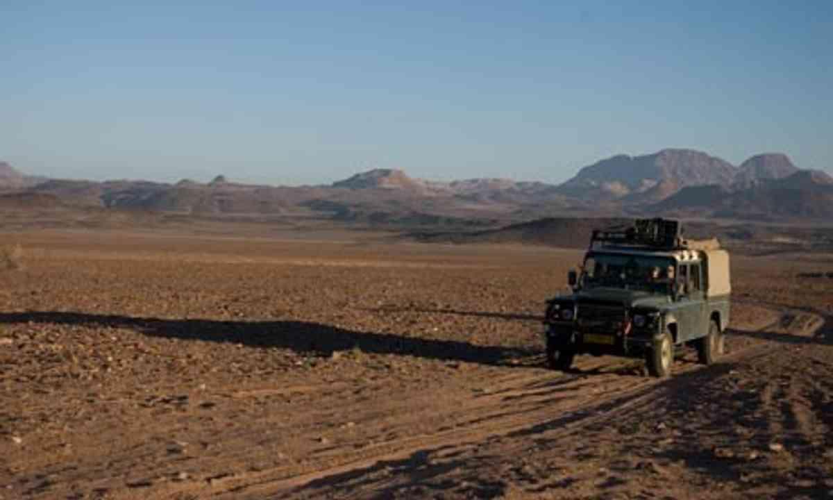 On safari in Namibia (Lyn Hughes)
