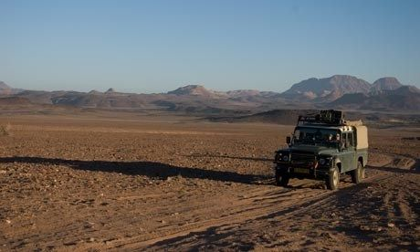 On safari in Namibia (Lyn Hughes)
