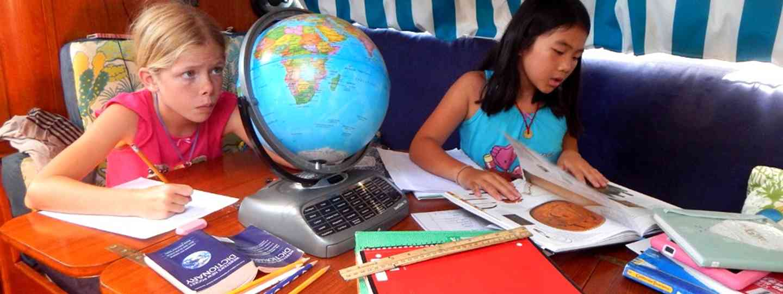 Kids getting (home)schooled (Aimee Nance)