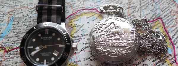 Watches on a map (Matthew Woodward)