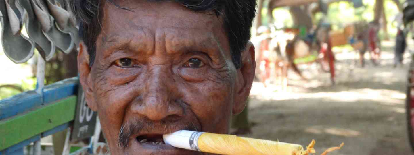 Fag or firework? Smoking cheroots in Burma/Myanmar (Supplied)
