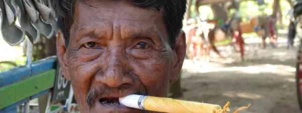 Fag or firework? Smoking cheroots in Burma/Myanmar (Supplied)