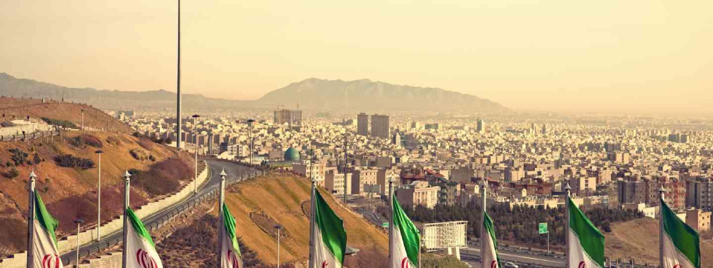 Tehran flags (Shutterstock)