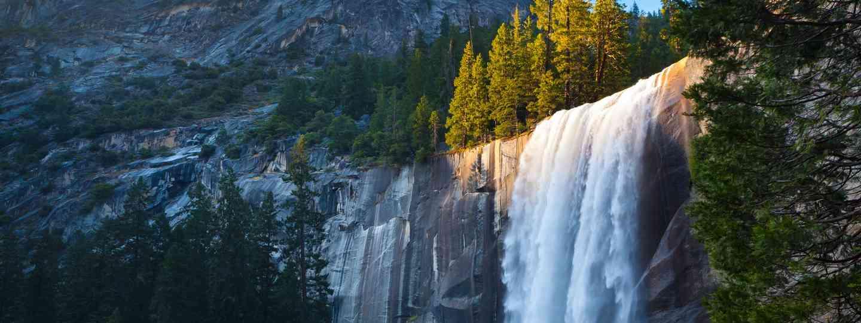 Light hitting Vernal Falls (Shutterstock.com. See main credit below)