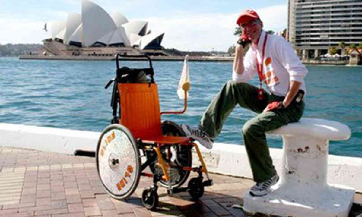 HArvey in a wheelchair (Frank Muldowney)