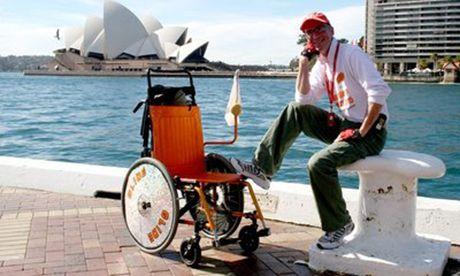 HArvey in a wheelchair (Frank Muldowney)