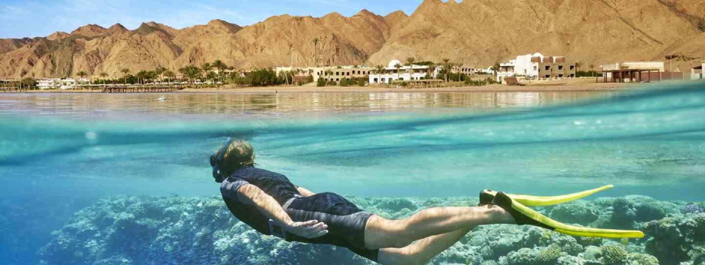 Snorkelling in Dahab, Egypt (Shutterstock)