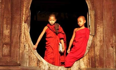 Monks in a window (Wanderlust)