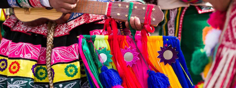 Peruvian dancers (Shutterstock: see credit below)