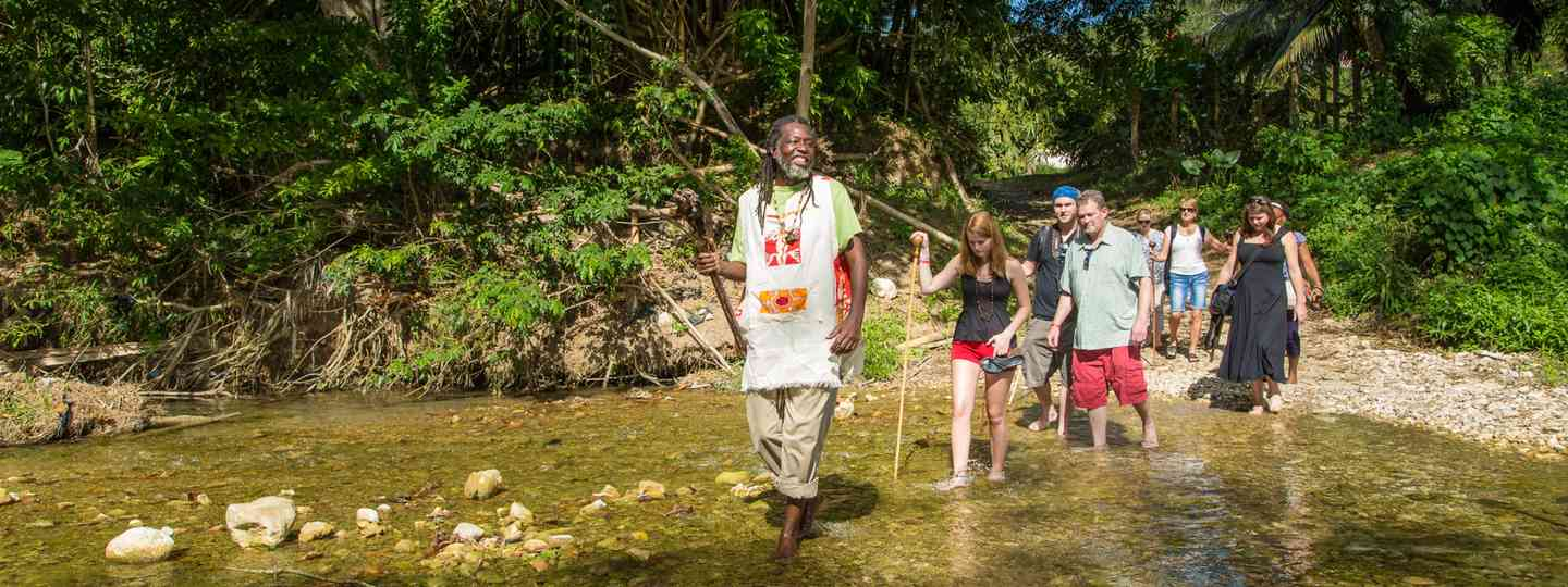 Rastafarian leading tour (Chris Willams, Travel Foundation - UK)