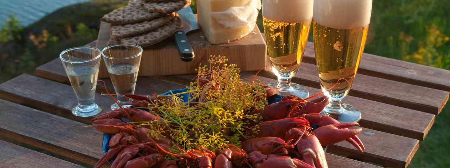 Table set for crayfish party (Shutterstock.com. See main credit below)