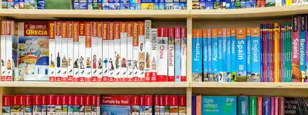 Guidebooks in a book store (Shutterstock. See main credit below)