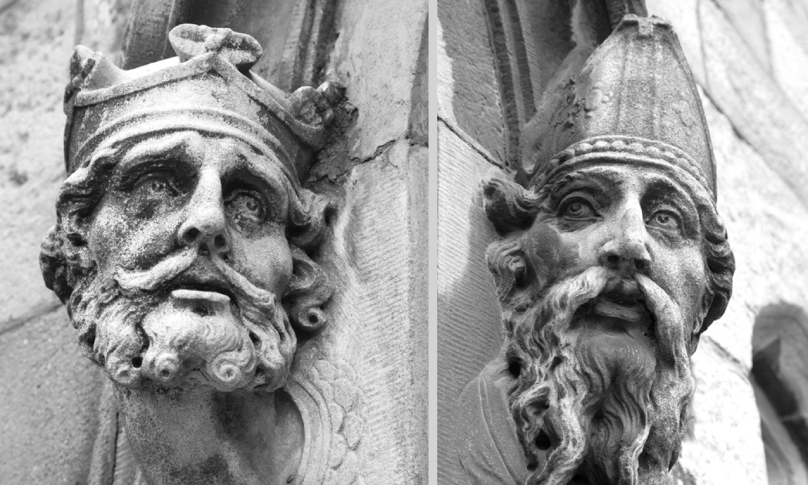 Statue Heads on Dublin Castle