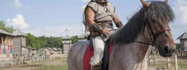 Viking on a horse (Shutterstock.com)