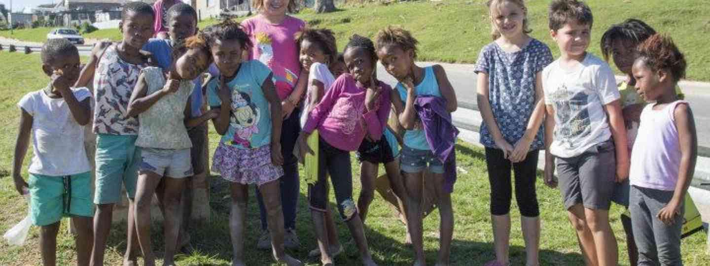 The Cagol children in Kynsna township (M. Cagol)