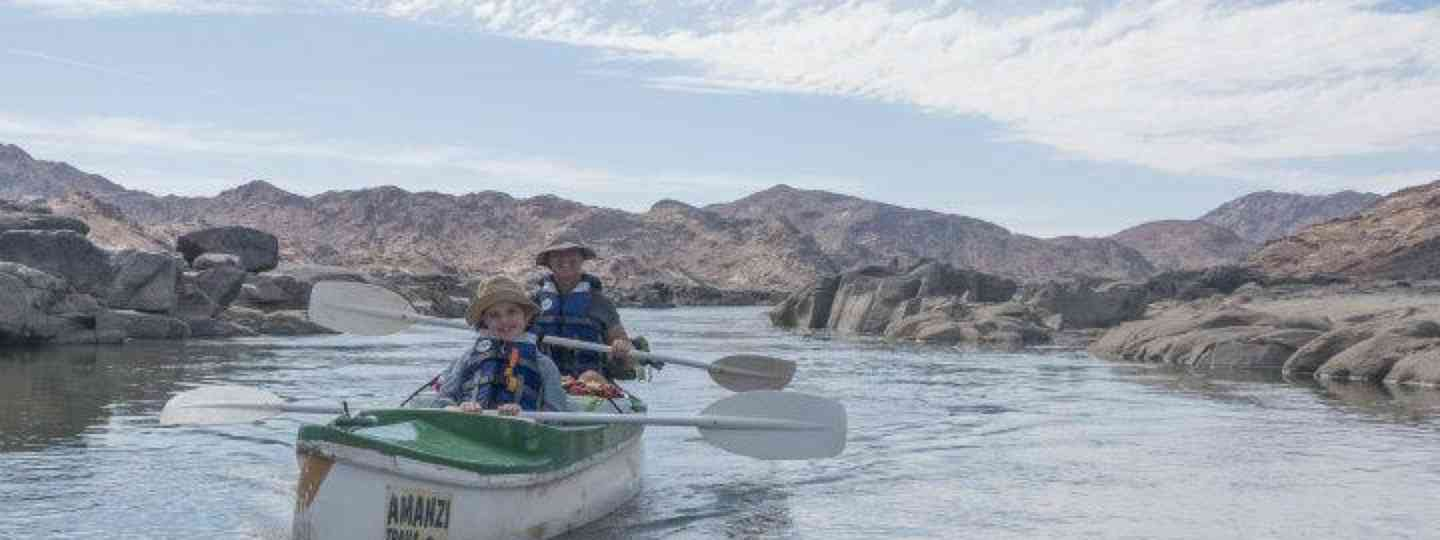 Mauro and Luca on the Orange River (Edwina Cagol)