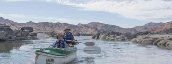 Mauro and Luca on the Orange River (Edwina Cagol)