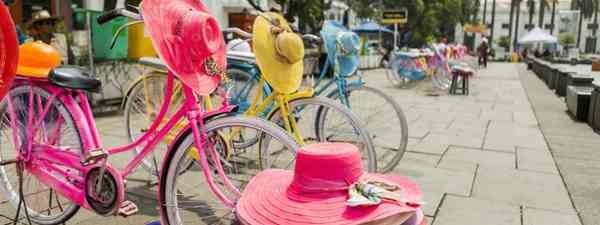 Colourful bicycles on Fatahillah Square (Shutterstock.com. See main image below)