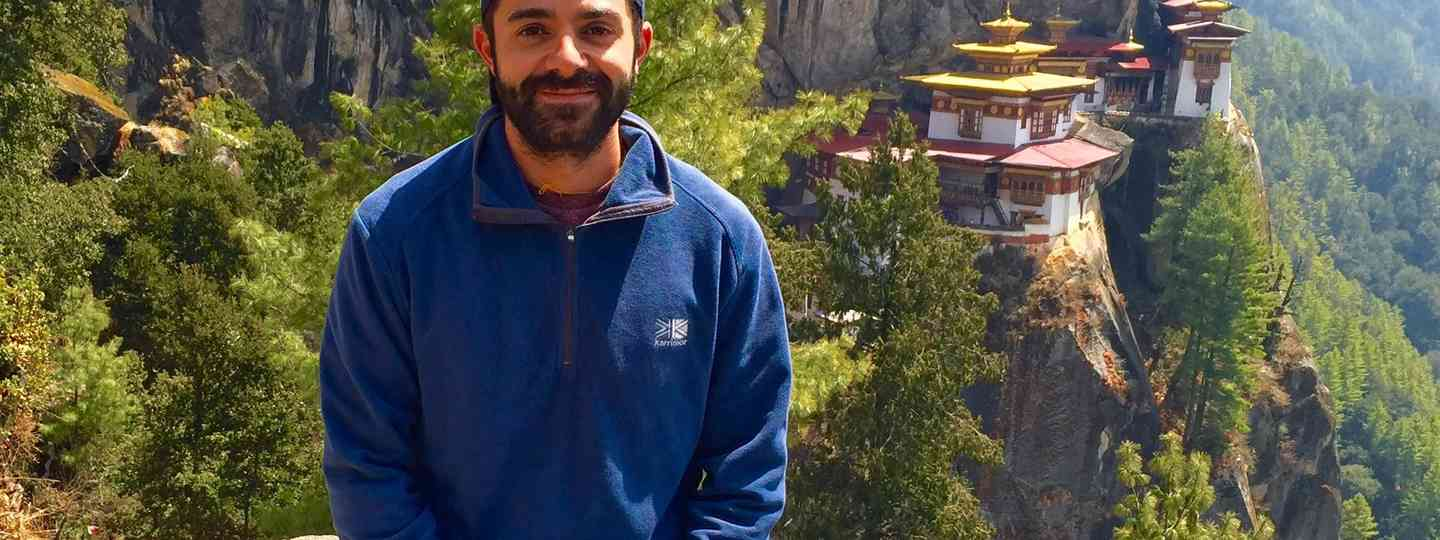 Nick and the Tiger's Nest Temple in Bhutan