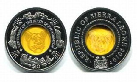Born Free coin Sierra Leone (Wiki Images)