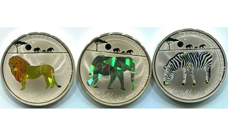 Wildlife coins, Togo (Wiki Images)