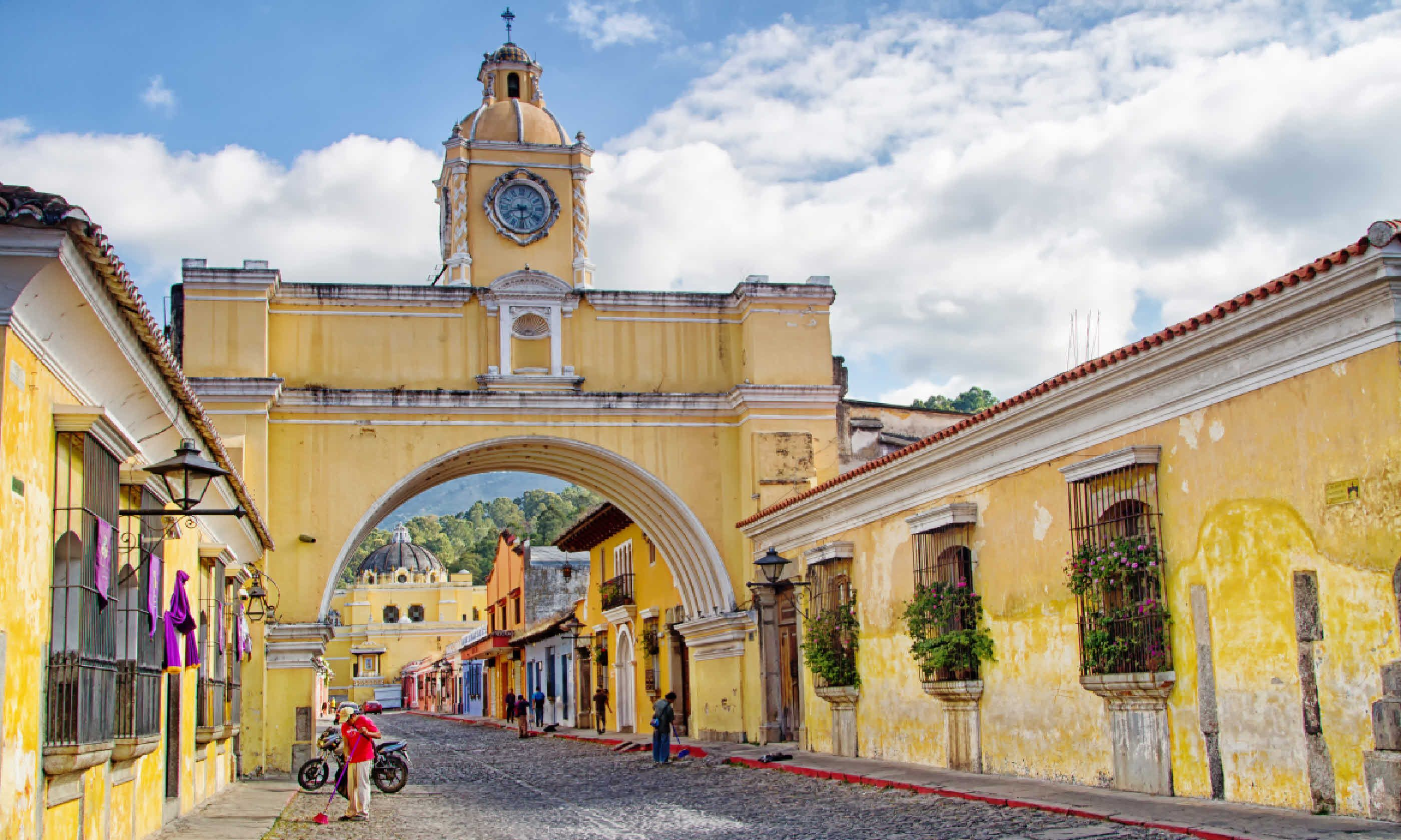 Colourful colonial buildings in Antigua, Guatemala (Shutterstock)