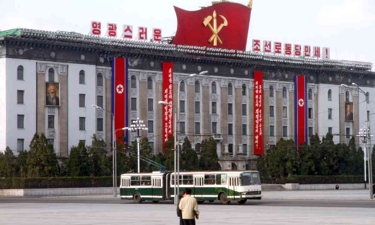 Government building on the Central Square of Kim Il-Sung, Pyongyang (Shutterstock)
