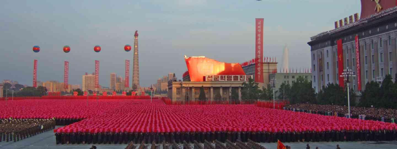 Military parade in Pyongyang, capital of North Korea (Shutterstock: see credit below)