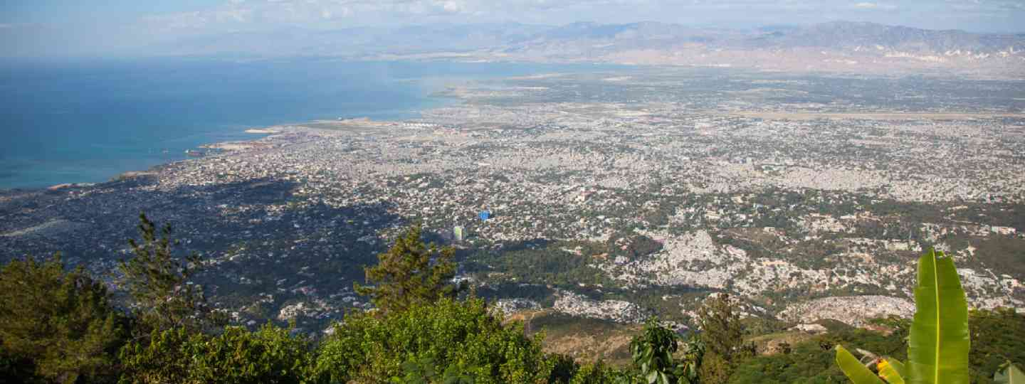 A view of Port au Prince from the top of a mountain (Shutterstock: see credit below)