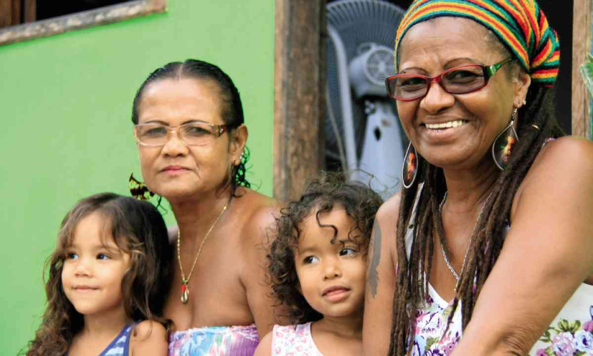 Edite do Santos and her family (photo: Nick Boulos)
