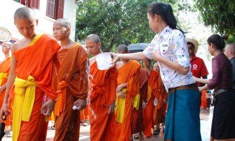 Monks in a line (wanderlust)