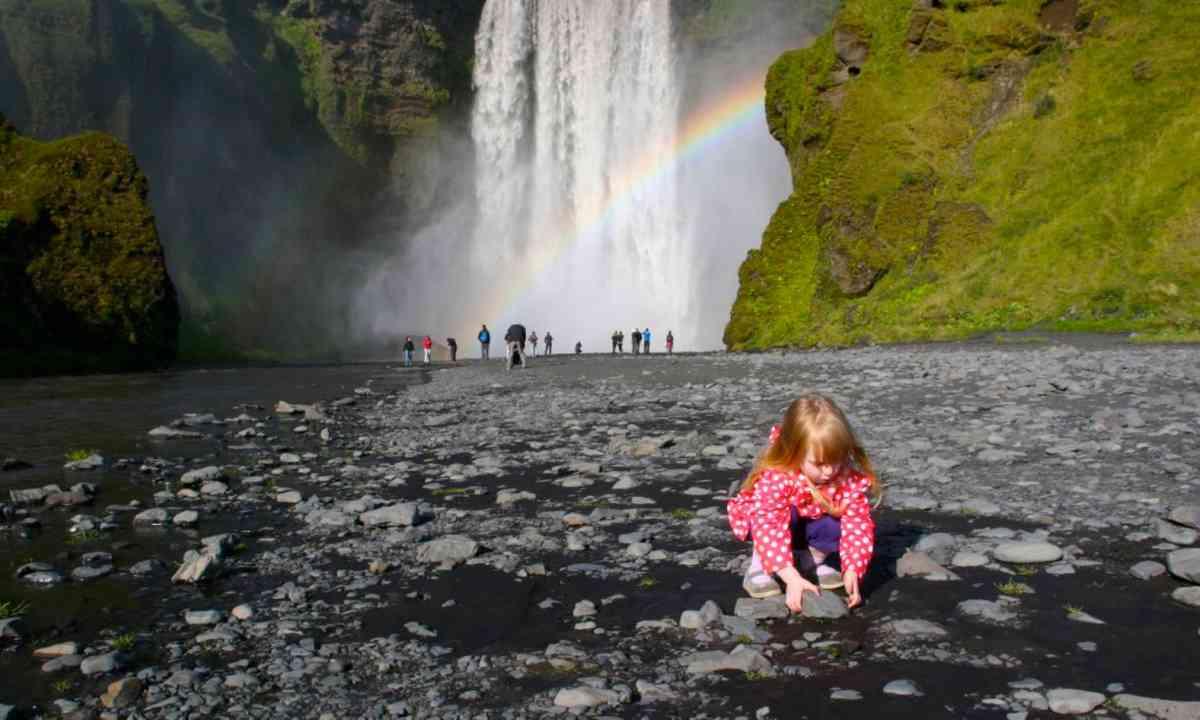 Fun near an Icelandic waterfall (GlobalMouseTravels.com)