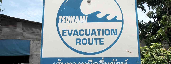 Tsunami warning sign in Thailand (Jamie Furlong)