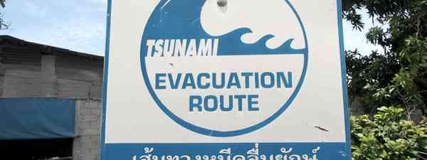 Tsunami warning sign in Thailand (Jamie Furlong)