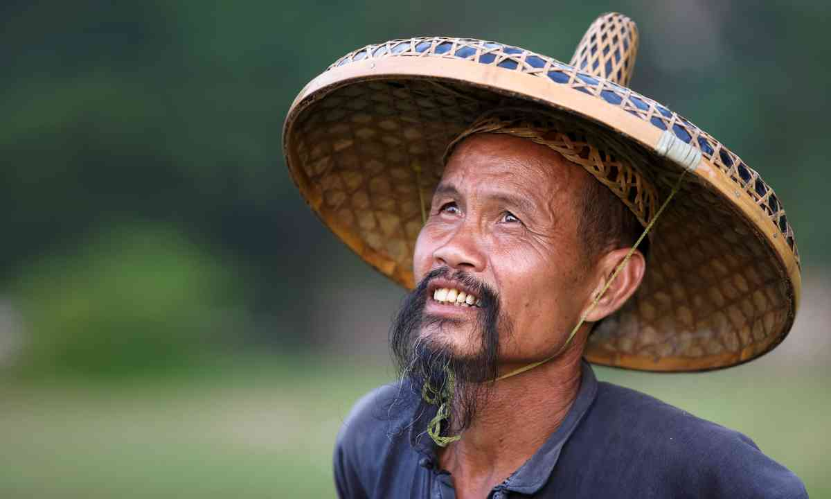 Chinese man in old hat (Shutterstock)