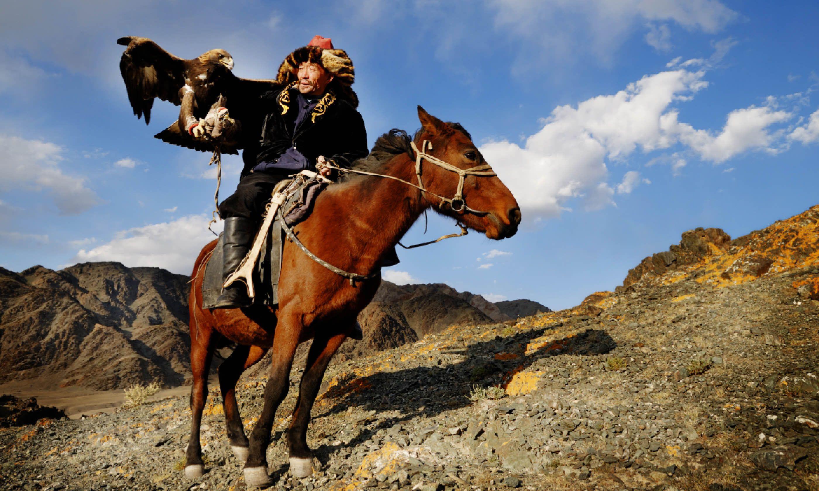 Kazakh men, Western Mongolia (Shutterstock)