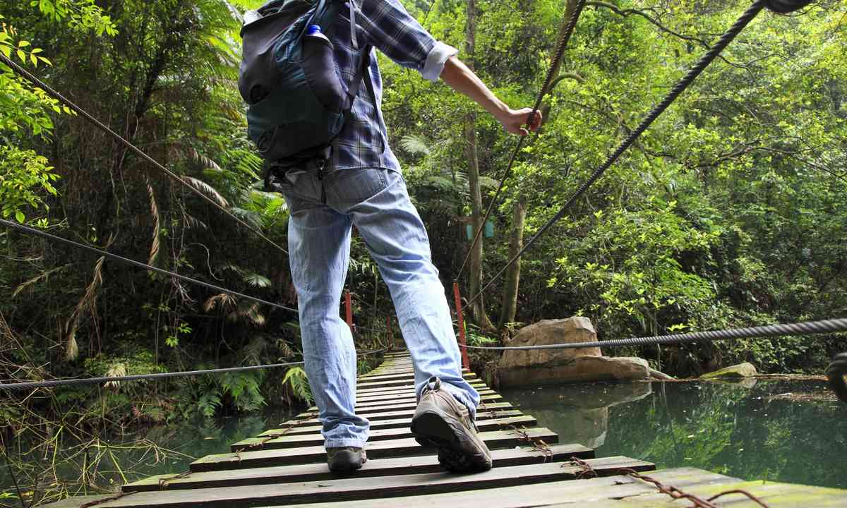 Crossing a wooden bridge in Costa Rica (www.shutterstock.com)
