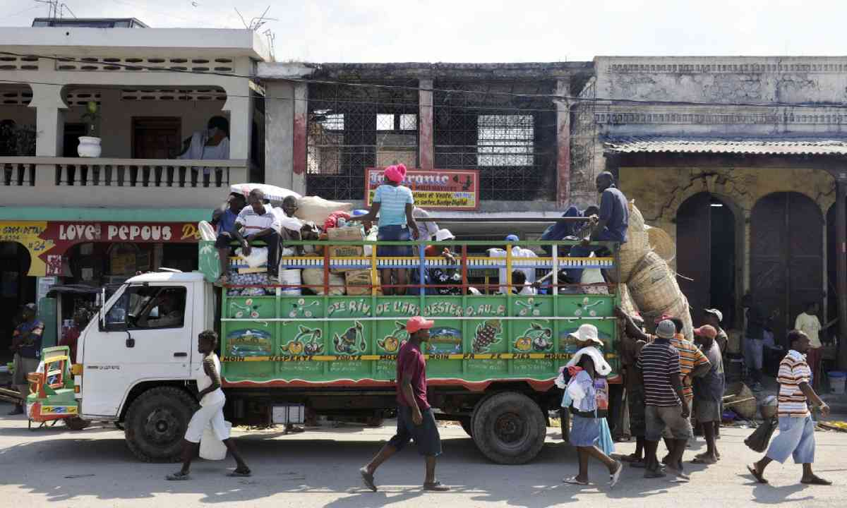 Colourful truck, Haiti (Shutterstock)