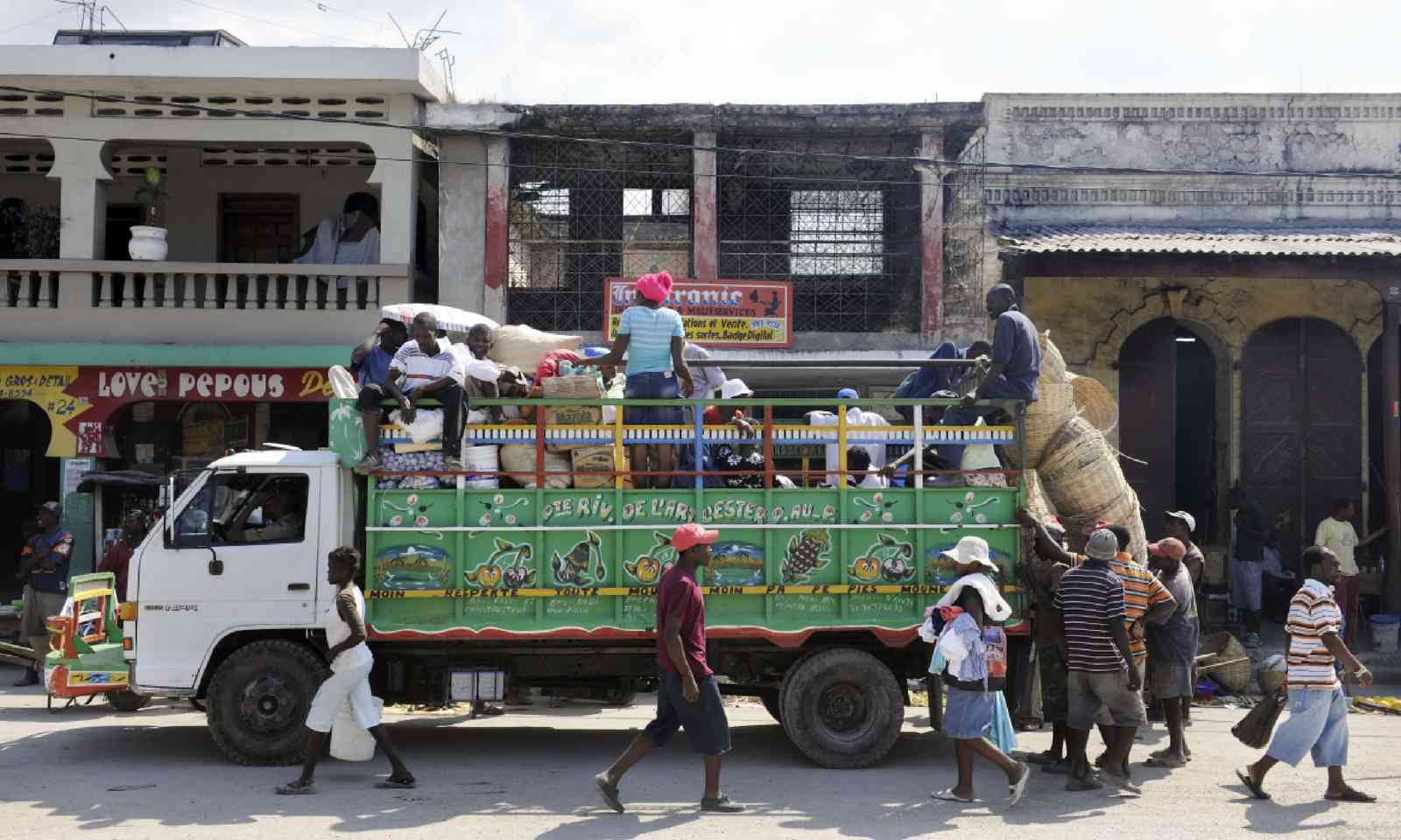 Colourful truck, Haiti (Shutterstock)