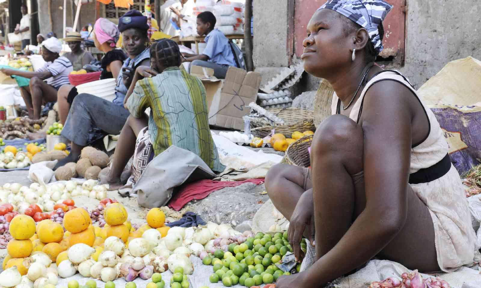 Woman selling in a market, Haiti (Shutterstock)