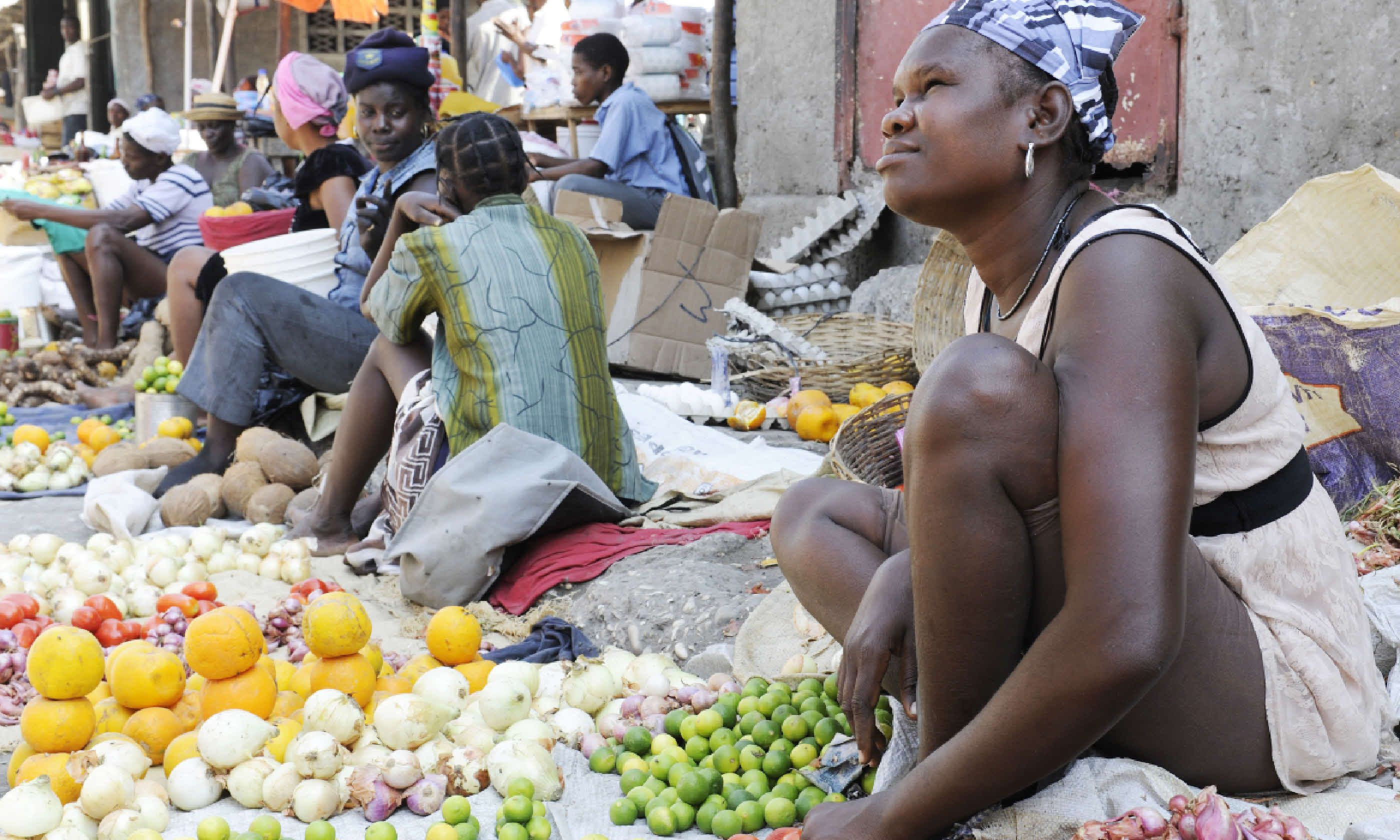 Woman selling in a market, Haiti (Shutterstock)